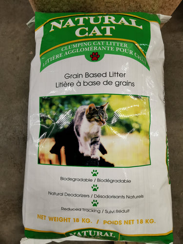 Natural Cat Biodegradable Clumping Cat Litter 18kg