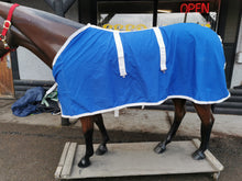 "Load image into Gallery viewer, 80"" Blue Stable Blanket"