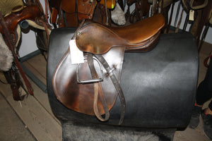 "16.5"" Kieffer Close Contact English Saddle"