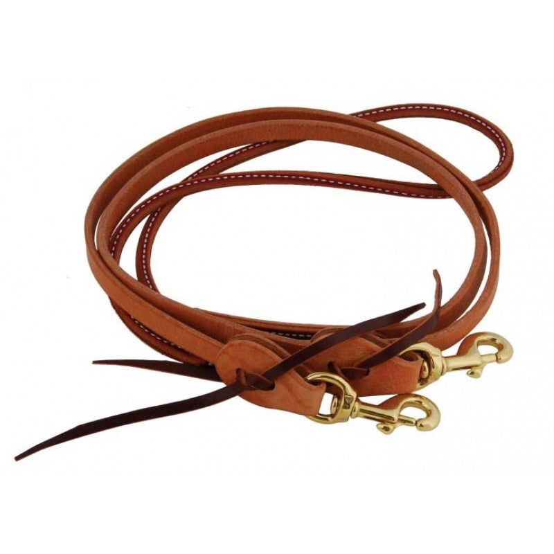 Harness Leather Rolled Latigo Barrel Racer Reins