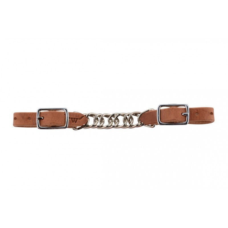 Western Rawhide Flat Leather Curb Chain