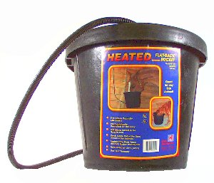 12 Qt Rubber Heated Flatback Bucket