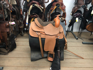 "15"" Lami-Cell Western Saddle with Breastplate & Cinch"