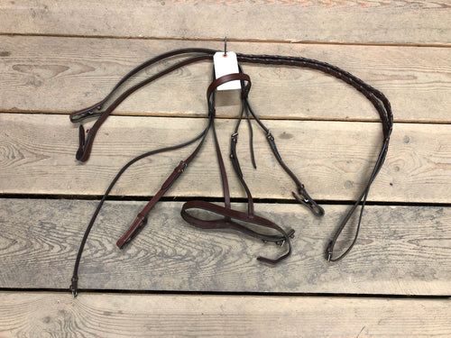 Full Leather Bridle with Reins