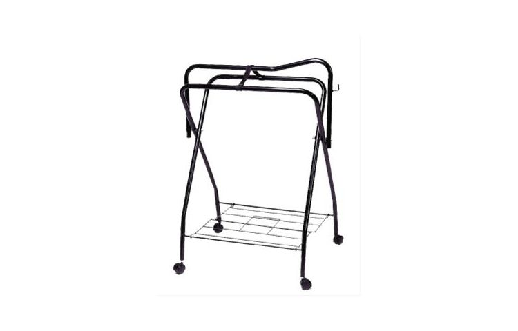 Folding Saddle Stand with Castors