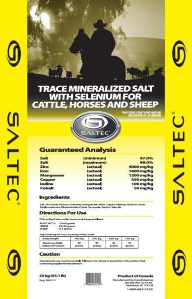 Saltec Loose Trace Mineral Bag with Selenium 25 mg/kg (ppm) 25kg