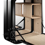 Open Nano Black Bar Cabinet made from Jerrycan