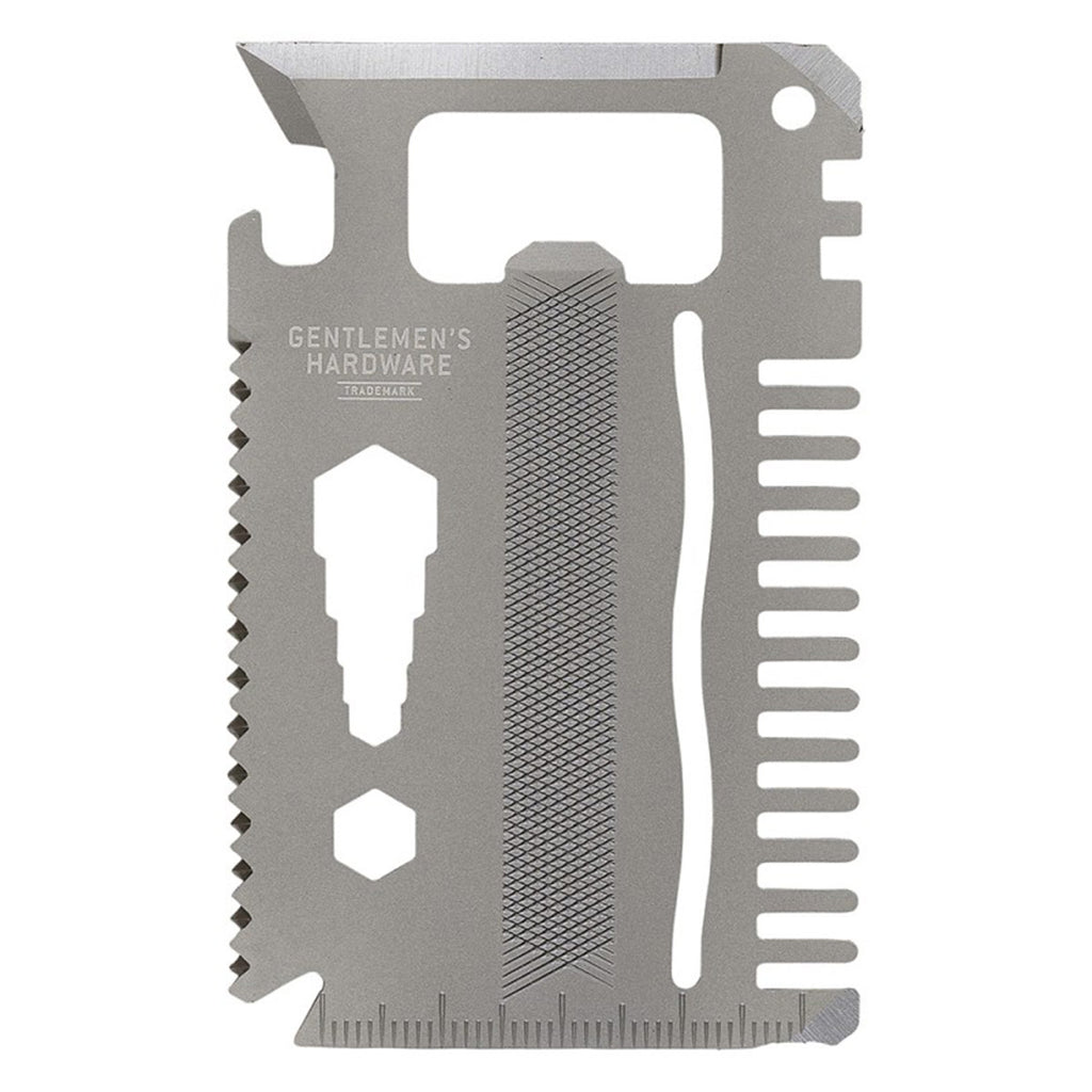 This titanium credit card multi-tool combines an array of handy tools in one credit-card-sized solution