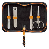 Manicure set from Gentlemen's Hardware including four tools in a nice, durable, polyester case with zip closure!