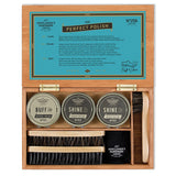 Shoe Shine Kit in Wood Box