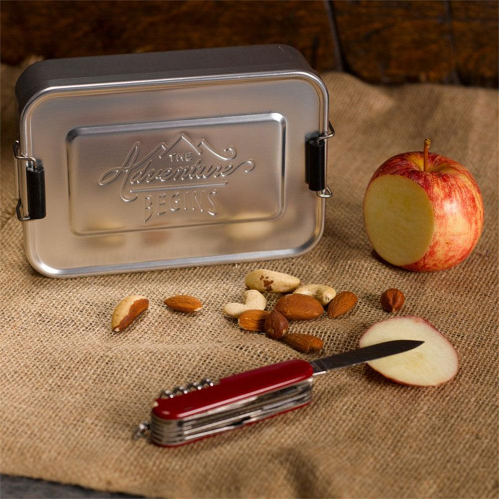 Gentlemen's Hardware Metal Tin Lunch Box Silver