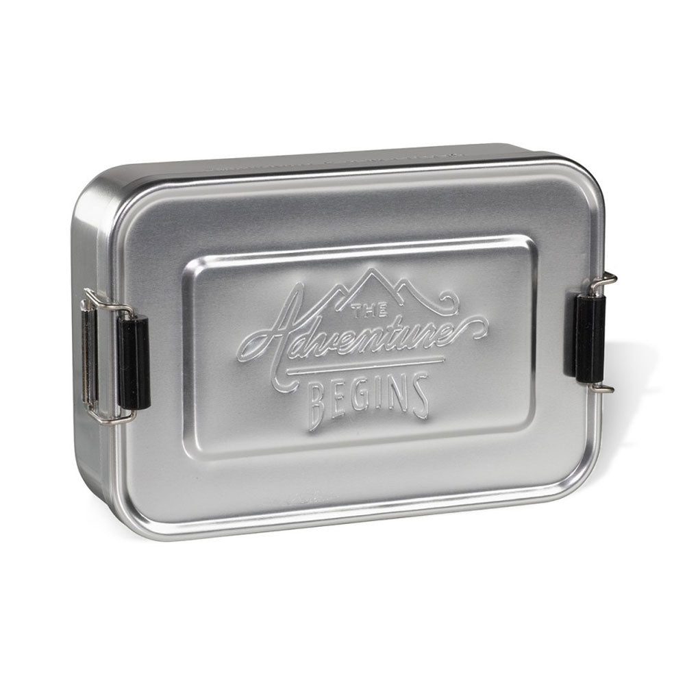 Metal Lunch Box in Silver