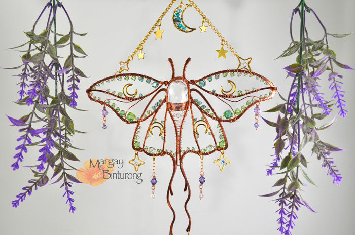 Luna Moth Suncatcher and DIY Kit