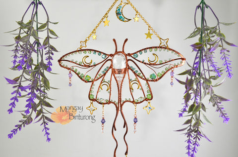 Art Nouveau Luna Moth Wall Art by Margay & Binturong