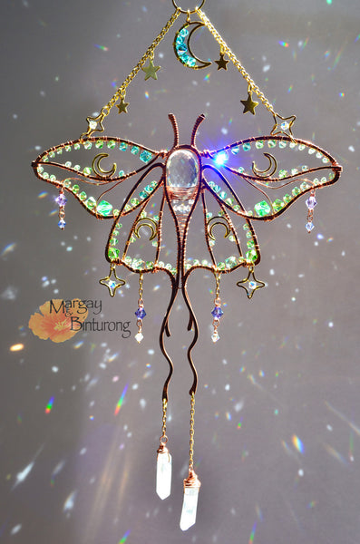Lun Moth Suncatcher by Margay and Binturong