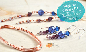 DIY Beaded Dangle Earrings Kit