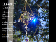 "Load image into Gallery viewer, 💫""ᑕᒪᗩᖇIꚌ𝞤""💫 Sacred Geometry Sun, Moon, and Stars SunCatcher and Air Plant Holder"