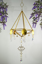 "Load image into Gallery viewer, 💫""ꕯℓℓυмιηαȶє.""💫 Sacred Geometry Sun, Moon, and Stars Sun Catcher and Air Plant Holder"