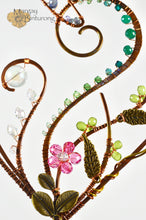 Load image into Gallery viewer, Garden Dragonfly Suncatcher Made From Wire and Swarovski Crystal