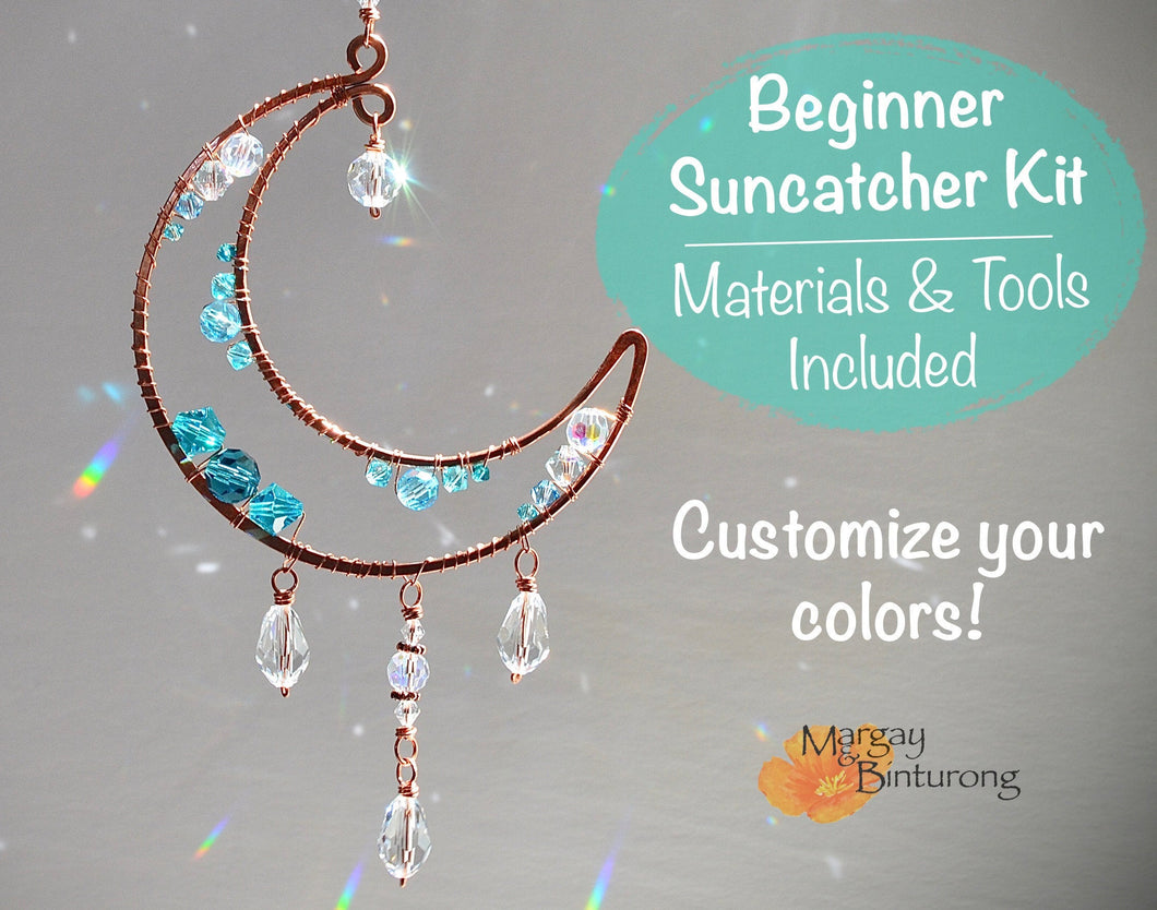 Crescent Moon DIY Suncatcher Activity Kit for Adults