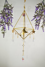 "Load image into Gallery viewer, ""Intuition"" Sacred Geometry Sun, Moon, and Stars Suncatcher and Air Plant Holder"