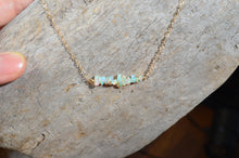 Load image into Gallery viewer, Raw Opal Necklace, Ethiopian Opal nuggets in Sterling Silver or 14k Gold Filled