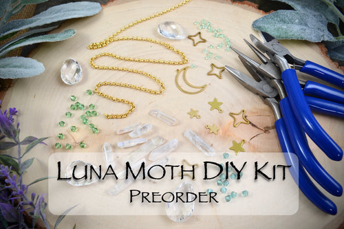 Preorder for Beginner Luna Moth DIY Suncatcher Kit, crystal prism copper beaded suncatchers