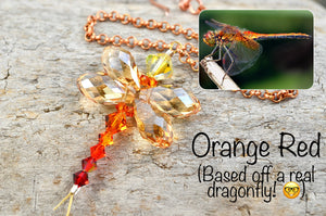 Tiny Dragonfly rear view mirror car charms: Rainbow Suncatchers made from Swarovski Crystals