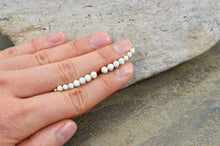 Load image into Gallery viewer, White Opal Ear Climbers, in Sterling Silver or 14k Gold Filled