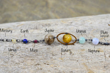 Load image into Gallery viewer, Solar System Necklace made with gemstones in Sterling Silver