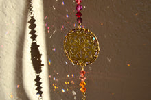Load image into Gallery viewer, Mandala Rearview Mirror Car Charm, boho Swarovski Crystal auto decoration accessories