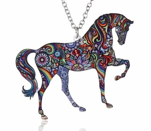 Collier Cheval Coloré