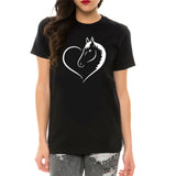 T-Shirt Cheval<br> Coeur