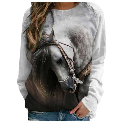 Pull Fille Cheval