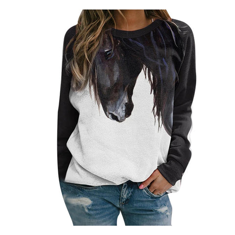 Pull Motif Cheval
