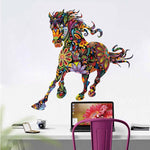 Sticker Cheval Chambre Fille Couleurs