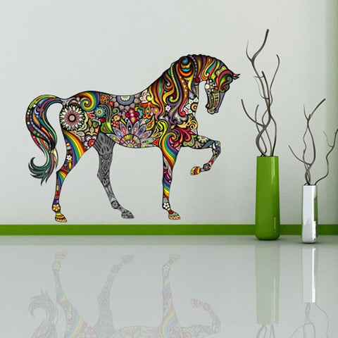 Sticker Cheval Couleur