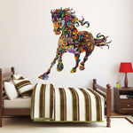 Sticker Mural Cheval Colore