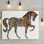 Stickers Cheval Couleur