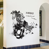 Sticker Mural Cheval Géant
