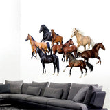 Stickers Muraux Chevaux Couleurs