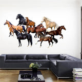 Stickers Chevaux Couleurs
