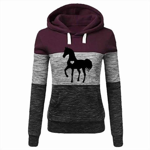 Sweat a Capuche Cheval