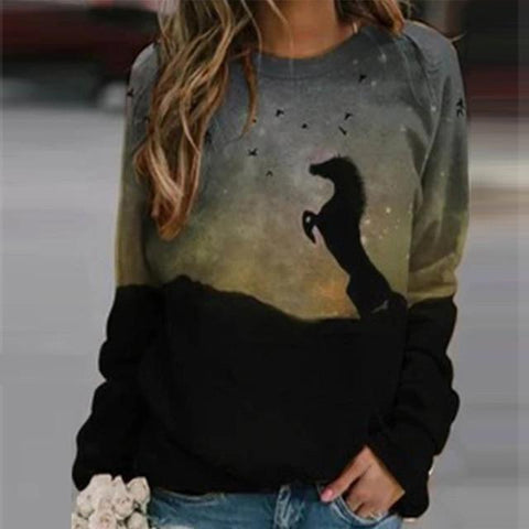 Sweat Fille Cheval