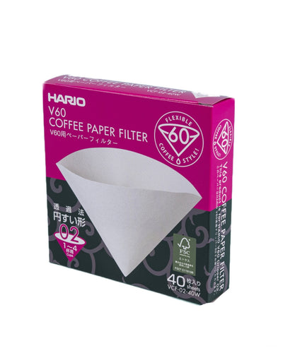 Hario V60 Size 02 White Paper Filters