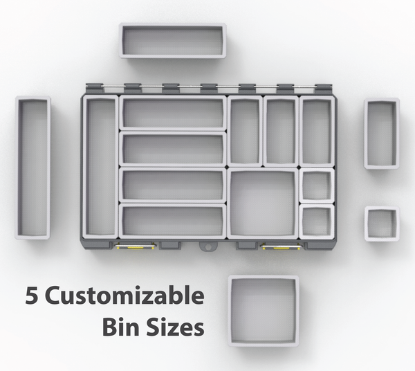 5 Customizable Bin Sizes