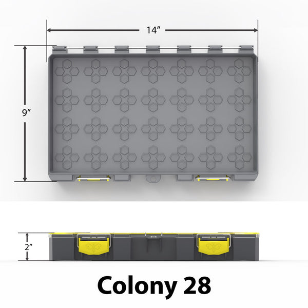 Empty Colony 28 Modular Tackle Box Sizing