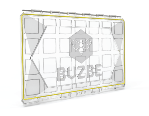 BUZBE Colony Modular Tacklebox Lid made from the same material as bullet proof glass