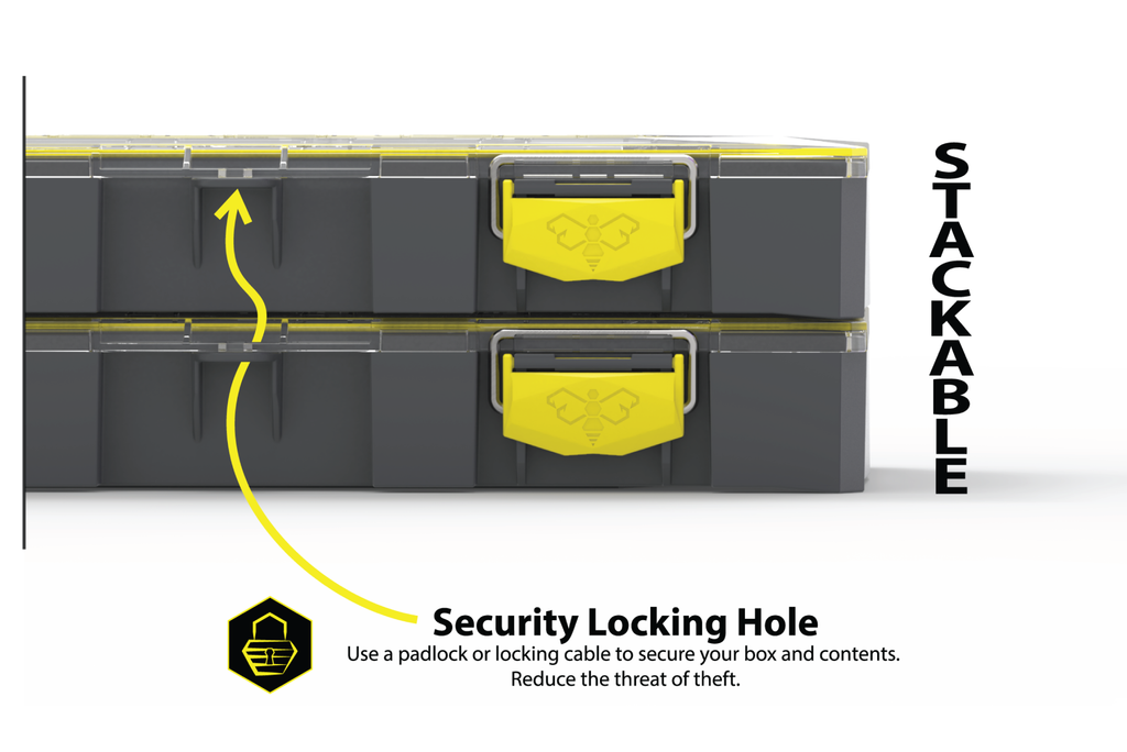 Stackable with a Security Locking Hole