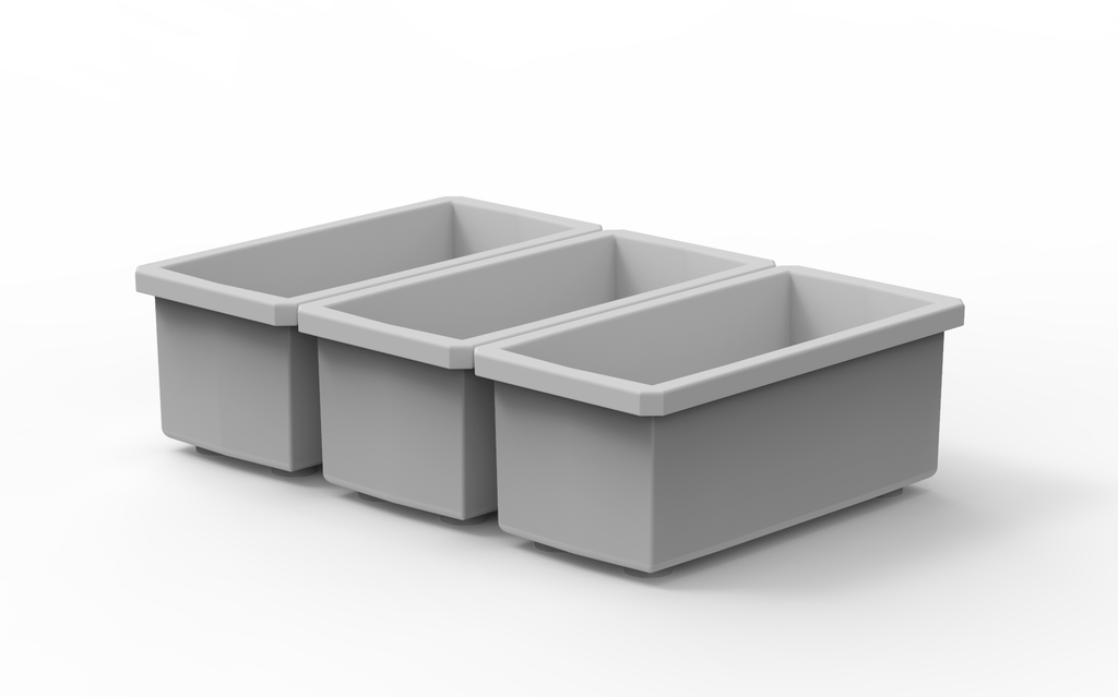 "3 Customizable 1x2 Bins (1.6"" x 3.56"")"